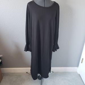 Fantastic Fawn Black pencil midi dress